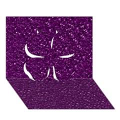 Sparkling Glitter Plum Clover 3d Greeting Card (7x5)