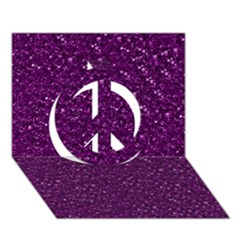 Sparkling Glitter Plum Peace Sign 3D Greeting Card (7x5)