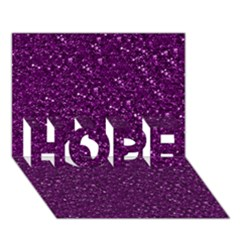 Sparkling Glitter Plum HOPE 3D Greeting Card (7x5)