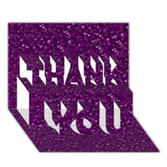 Sparkling Glitter Plum Thank You 3d Greeting Card (7x5)