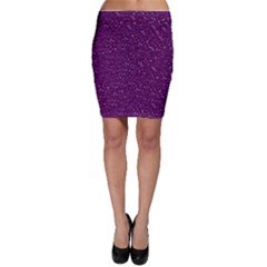 Sparkling Glitter Plum Bodycon Skirts