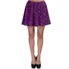 Sparkling Glitter Plum Skater Skirts