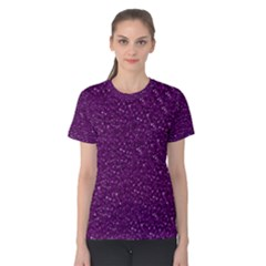 Sparkling Glitter Plum Women s Cotton Tees