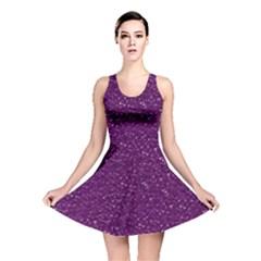Sparkling Glitter Plum Reversible Skater Dresses