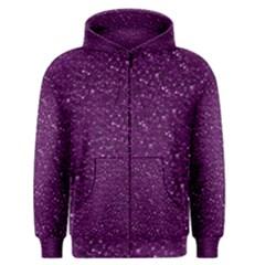 Sparkling Glitter Plum Men s Zipper Hoodies