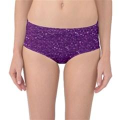 Sparkling Glitter Plum Mid-Waist Bikini Bottoms