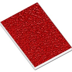 Sparkling Glitter Red Large Memo Pads