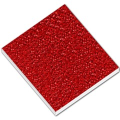 Sparkling Glitter Red Small Memo Pads