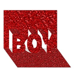 Sparkling Glitter Red Boy 3d Greeting Card (7x5)