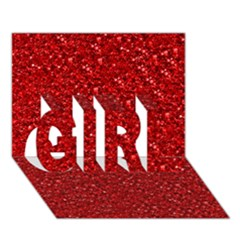 Sparkling Glitter Red Girl 3d Greeting Card (7x5)