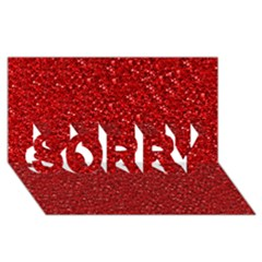 Sparkling Glitter Red SORRY 3D Greeting Card (8x4)