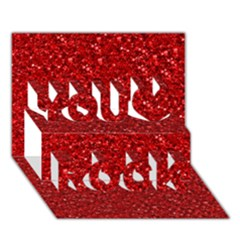 Sparkling Glitter Red You Rock 3D Greeting Card (7x5)