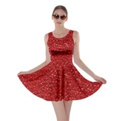Sparkling Glitter Red Skater Dresses