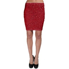 Sparkling Glitter Red Bodycon Skirts