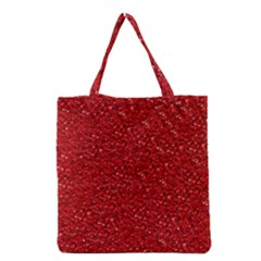 Sparkling Glitter Red Grocery Tote Bags