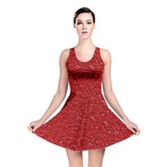 Sparkling Glitter Red Reversible Skater Dresses