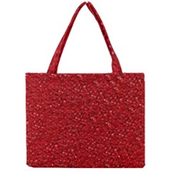 Sparkling Glitter Red Tiny Tote Bags