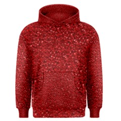 Sparkling Glitter Red Men s Pullover Hoodies