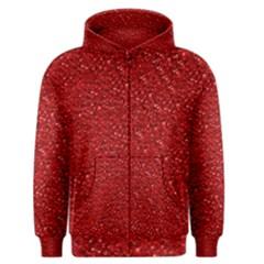 Sparkling Glitter Red Men s Zipper Hoodies