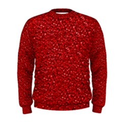Sparkling Glitter Red Men s Sweatshirts