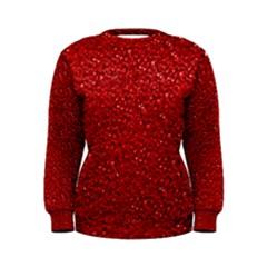 Sparkling Glitter Red Women s Sweatshirts