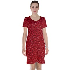 Sparkling Glitter Red Short Sleeve Nightdresses