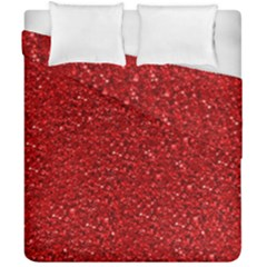 Sparkling Glitter Red Duvet Cover (double Size)