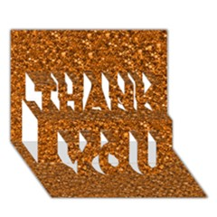 Sparkling Glitter Terra Thank You 3d Greeting Card (7x5)