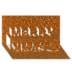 Sparkling Glitter Terra Merry Xmas 3d Greeting Card (8x4)