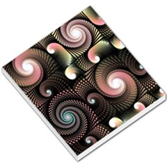 Peach Swirls on Black Small Memo Pads