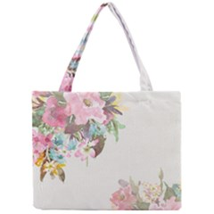 Vintage Watercolor Floral Tiny Tote Bags