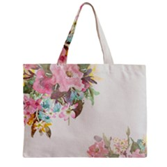 Vintage Watercolor Floral Zipper Tiny Tote Bags