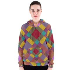 Shapes Pattern Women s Zipper Hoodie