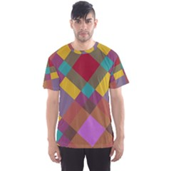 Shapes Pattern Men s Sport Mesh Tee