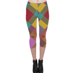 Shapes pattern Capri Leggings