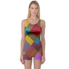 Shapes pattern Women s Boyleg One Piece Swimsuit