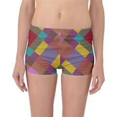 Shapes Pattern Boyleg Bikini Bottoms