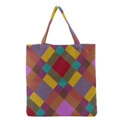 Shapes pattern Grocery Tote Bag