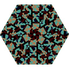 Distorted shapes in retro colors Umbrella