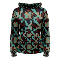 Distorted shapes in retro colors Women s Pullover Hoodie