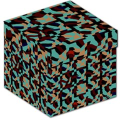 Distorted shapes in retro colors Storage Stool