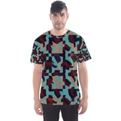 Distorted shapes in retro colors Men s Sport Mesh Tee