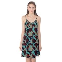 Distorted shapes in retro colors Camis Nightgown