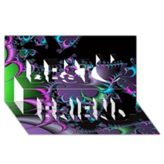 Fractal Dream Best Friends 3d Greeting Card (8x4)