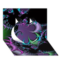 Fractal Dream Heart 3D Greeting Card (7x5)