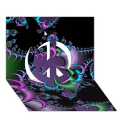 Fractal Dream Peace Sign 3d Greeting Card (7x5)