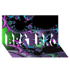 Fractal Dream BEST BRO 3D Greeting Card (8x4)
