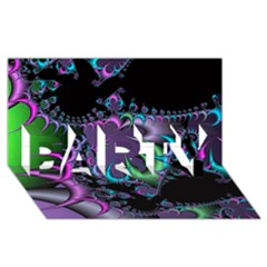 Fractal Dream Party 3d Greeting Card (8x4)