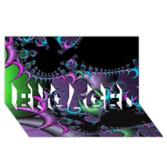 Fractal Dream ENGAGED 3D Greeting Card (8x4)