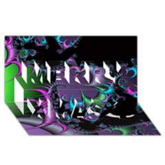 Fractal Dream Merry Xmas 3d Greeting Card (8x4)
